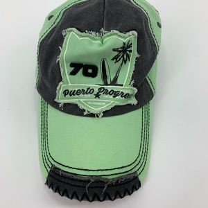 Puerto Progreso baseball hat cap green